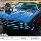 """1969 Chevelle SS Ad Digitized & Re-mastered Poster Print """"Class Bully"""" 16"""" x 24"""""""
