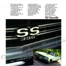 """1967 Chevelle SS Ad Digitized & Re-mastered Poster Print """"We Brag Right Out on the Grille"""" 18"""" x 24"""""""