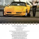 "1980 Chev. Corvette Stingray Ad Digitized & Re-mastered Poster Print ""Some Things Endure"" 18""x24"""