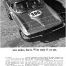 "1965 Chevrolet Corvette Stingray Ad Digitized & Re-mastered Print ""396 Cubic Inches.."" 18"" x 24"""