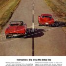 """1964 Chevrolet Corvette Stingray Ad Digitized & Re-mastered Print """"Cut Along Dotted Line"""" 18"""" x 24"""""""