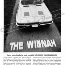 "1963 Chevrolet Corvette Stingray Ad Digitized & Re-mastered Poster Print ""The Winnah"" 18"" x 24"""