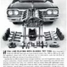 "1964 Chevrolet Impala SS Ad Digitized & Re-mastered Poster Print ""Playing with Blocks"" 17"" x 24"""