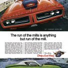 "1971 Charger R/T Ad Digitized & Re-mastered Poster Print ""Run of the Mills is Anything But"" 18""x24"""