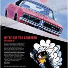 "1969 Dodge Charger Ad Digitized & Re-mastered Poster Print ""We've Got You Cornered"" 18"" x 24"""