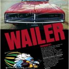 "1969 Dodge Charger Ad Digitized & Re-mastered Poster Print ""Wailer"" 18"" x 24"""
