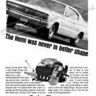 "1966 Dodge Charger Ad Digitized & Re-mastered Poster Print ""Hemi Was Never in Better Shape"" 18""x24"""