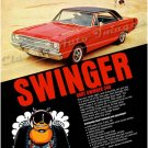 """1969 Dodge Dart Swinger Ad Poster Print """"Swinger"""""""