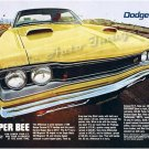 "1969 Dodge Super Bee Ad Digitized & Re-mastered Poster Print ""Lower Your ET"" 18"" x 24"""