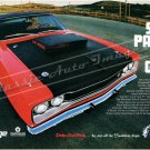 "1969 Dodge Super Bee Ad Digitized & Re-mastered Poster Print ""Six Pack To Go!"" 18"" x 24"""