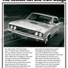 "1967 Dodge Coronet R/T Ad Digitized & Re-mastered Poster Print ""Newest Hot One From Dodge"" 18"" x 24"""