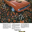 "1970 Plymouth Hemi 'Cuda Digitized & Re-mastered Ad Poster Print ""Cuda Power"" 18"" x 24"""