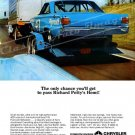 """1966 Plymouth Belvedere Ad Digitized & Re-mastered Poster Print """"Pass Richard Petty's Hemi"""" 18""""x24"""""""