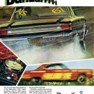 "1967 Plymouth Belvedere GTX Ad Digitized & Re-mastered Poster Print ""Banzaiiii"" 18"" x 24"""