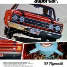 "1967 Plymouth Belvedere GTX Digitized & Re-mastered Ad Poster Print ""Supercar"" 18"" x 24"""