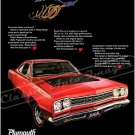 "1968 Plymouth Road Runner Ad Digitized and Re-mastered Poster Print ""Know Those Cartoons?"" 18"" x 24"""