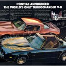 "1980 Firebird Formula & Trans Am Ad Digitized & Re-mastered Print ""Only Turbocharged V-8"" 16"" x 24"""