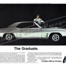 "1969 Pontiac Firebird Ad Digitized & Re-mastered Poster Print ""The Graduate"" 18"" x 24"""