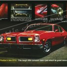 "1974 Pontiac GTO Ad Digitized & Re-mastered Poster Print ""Earned It"" 16"" x 24"""