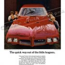 "1970 Pontiac GTO Ad Digitized & Re-mastered Print ""Fastest Way Out of the Little Leagues"" 18"" x 24"""
