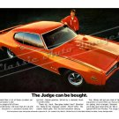 "1969 Pontiac GTO Judge Ad Digitized & Re-mastered Poster Print ""The Judge Can be Bought"" 18"" x 24"""