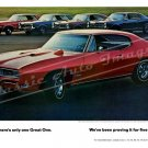"1968 Pontiac GTO Ad Digitized & Re-mastered Poster Print ""Proving it for 5 Years"" 18"" x 24"""
