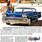 "1958 Chevrolet Impala Ad Poster Print 20"" x 15"""