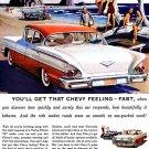 "1958 Chevrolet Bel Air Ad Poster Print 20"" x 15"""