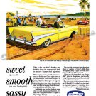 "1957 Chevrolet Bel Air Ad Digitized & Re-mastered Poster Print ""Sweet-Smooth-Sassy"" 18"" x 24"""