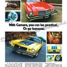 "1974 Chevrolet Camaro and Z/28 Ad Digitized & Re-mastered Poster Print ""Go Bananas"" 18"" x 24"""