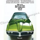 "1968 Pontiac Firebird Ad Digitized and Re-mastered Poster Print ""The End"" 18"" x 24"""
