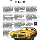 "1971 Pontiac GTO Ad Digitized & Re-mastered Poster Print ""End of the GTO?"" 18"" x 24"""