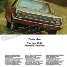 "1966 Plymouth Satellite Ad Digitized and Re-mastered Poster Print ""Power Play"" 18"" x 24"""