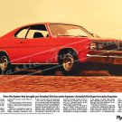 "1970 Plymouth Duster Digitized & Re-mastered Ad Poster Print ""Supercar"" 18"" x 24"""