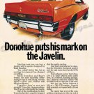 "1970 American Motors Ad Print Digitized & Re-mastered ""Donohue Puts His Mark on the Javelin"" 24""x36"""