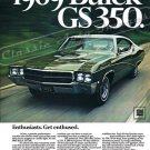 "1969 Buick GS 350 Ad Digitized & Re-mastered Poster Print ""Enthusiasts. Get Enthused"" 24"" x 32"""