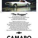 "1967 Camaro Ad Digitized & Re-mastered Poster Print ""The Hugger-White"" 24"" x 36"""