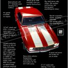 """1968 Camaro Z/28 Ad Digitized & Re-mastered  Poster Print """"Closest Thing to a Corvette Yet"""" 24""""x32"""""""