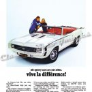 "1969 Camaro RS/SS Ad Digitized & Re-mastered Poster Print ""Vive le Difference"" 24"" x 32"""