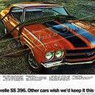 "1970 Chevelle SS Ad Digitized & Re-mastered Poster Print ""Wish We'd Keep it This Way"" 24"" x 36"""