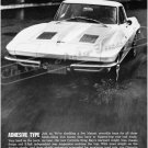 "1963 Chevrolet Corvette Stingray Ad Digitized & Re-mastered Poster Print ""Adhesive Type"" 24"" x 32"""