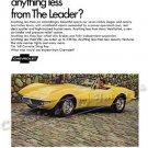 "1968 Chevrolet Corvette Stingray Ad Digitized & Re-mastered Print ""Expect Anything Less?"" 24"" x 32"""