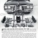 "1964 Chevrolet Impala SS Ad Digitized & Re-mastered Poster Print ""Playing with Blocks"" 24"" x 34"""