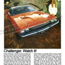 "1970 Dodge Challenger R/T Ad Digitized & Re-mastered Poster Print ""Watch It"" 24"" x 32"""
