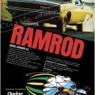 "1968 Dodge Charger Ad Digitized & Re-mastered Poster Print ""Ramrod"" 24"" x 32"""