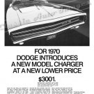 "1970 Dodge Charger Ad Digitized & Re-mastered Poster Print ""New Model"" 24"" x 32"""