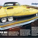 "1969 Dodge Super Bee Ad Digitized & Re-mastered Poster Print ""Lower Your ET"" 24"" x 32"""