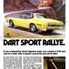 "1974 Dodge Dart Ad Digitized & Re-mastered Poster Print ""You're the One We Are After"" 24"" x 36"""
