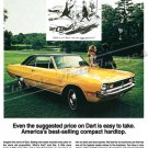 "1971 Dodge Dart Ad Digitized & Re-mastered Poster Print ""Easy to Take"" 24"" x 36"""