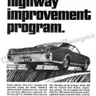 "1967 Oldsmobile 442 Ad Digitized & Re-mastered Poster Print ""Highway Improvement Program"" 24"" x 32"""
